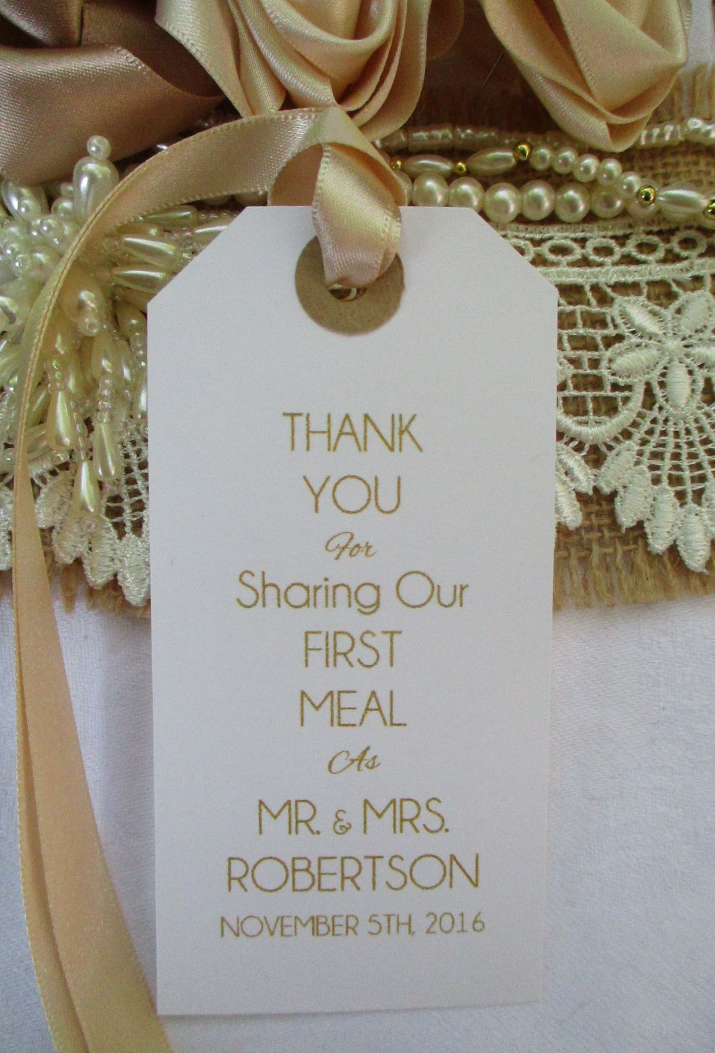 10 wedding table place setting tag napkin tie